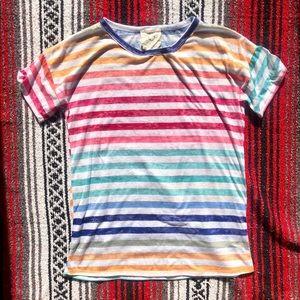 Fantastic Fawn rainbow striped tee